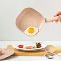 6501500ml square non stick frying pan egg pan with lid pancake kitchen milk soup pot use for gas cooker induction