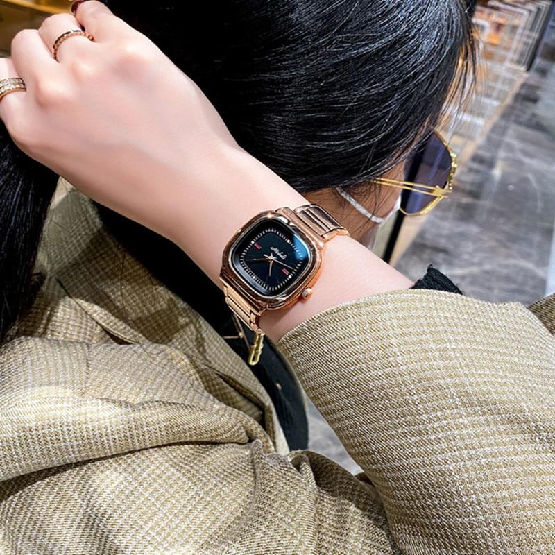 Super Big Dial Square Women Watches Lady New Casual Quartz Watch Simple Gold Luxury Female Watches Clock +Box Relogio Feminino