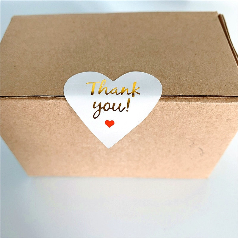 100-pz-lotto-bella-cuore-design-adesivi-di-carta-d'oro-grazie-scrapbooking-adesivi-sigilli-etichette-per-il-regalo