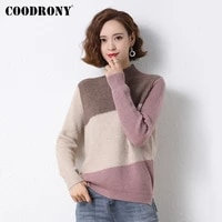 coodrony brand streetwear fashion casual womens patchwork color clothing 2021 autumn winter knitted female soft sweaters w1411