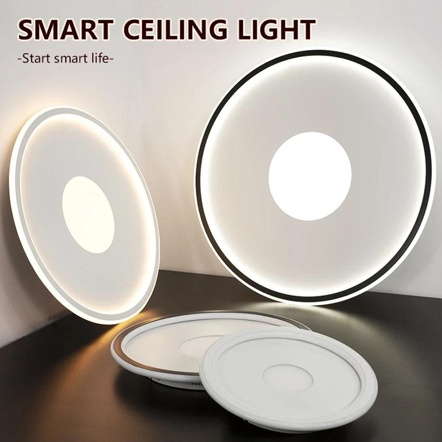 moderna lampada do teto inteligente pode ser escurecido sala de estar luzes led para