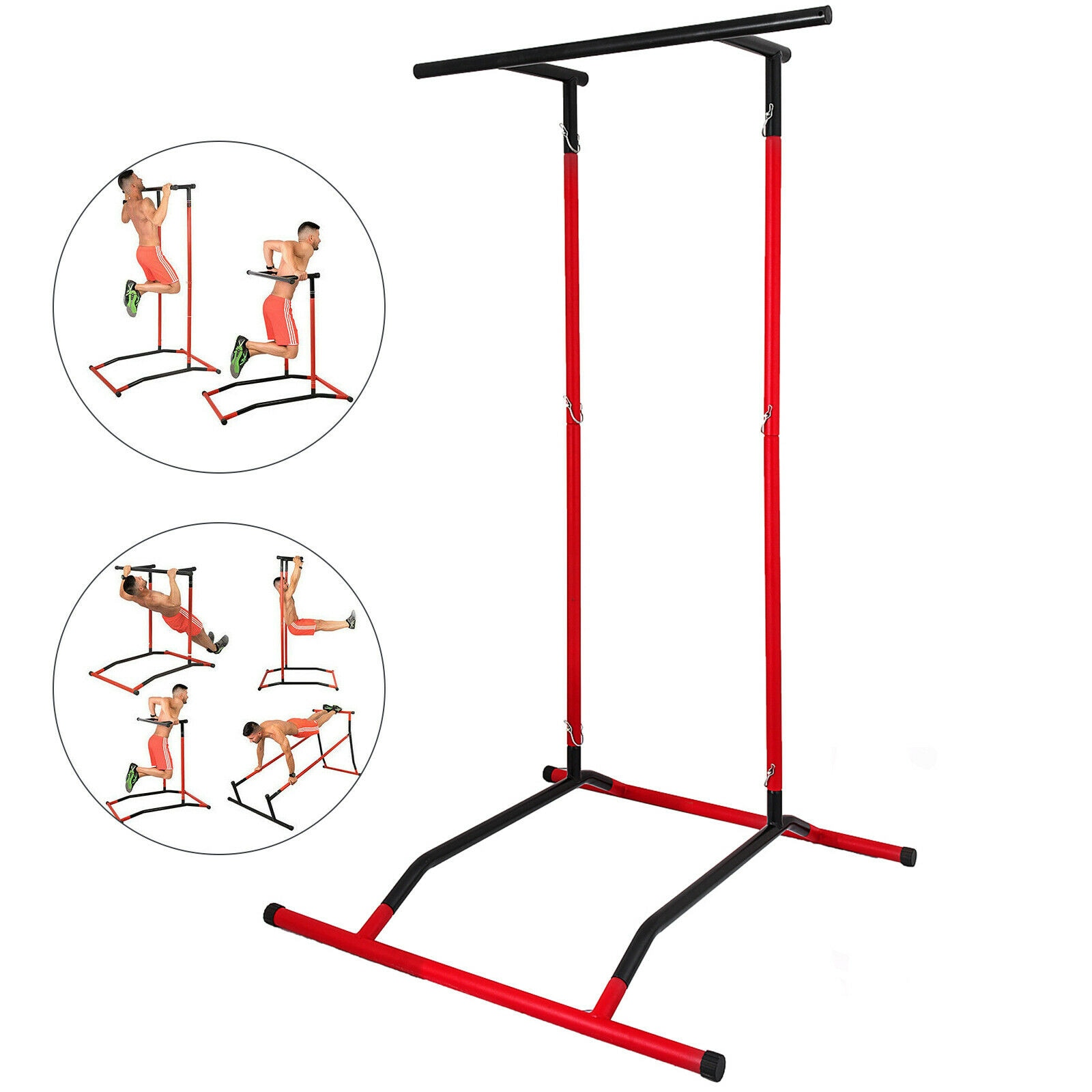 Tragbare Pull Up Dip Station Power Tower Gym Bar Stretch Workout Multi Funktion