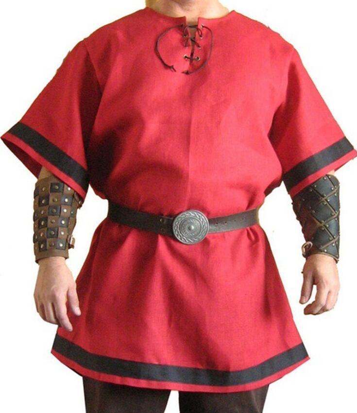 Cosplay traje de samurái Guard disfraz Encaje de halloween up cuello redondo disfraces costuras contrastantes disfraces Fantasía