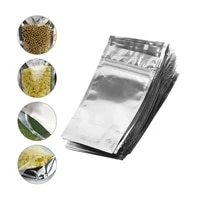 100pcspack silver aluminum foil clear plastic packaging bags heat seal vacuum pouches bag food storage pack mylar bags