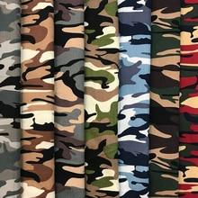 Tela de algodón de 1M, tela de estampado de camuflaje 100*150cm, 7 colores DIY, camisa, pantalones, vestido, bolsa de falda, suministros de bordado de costura
