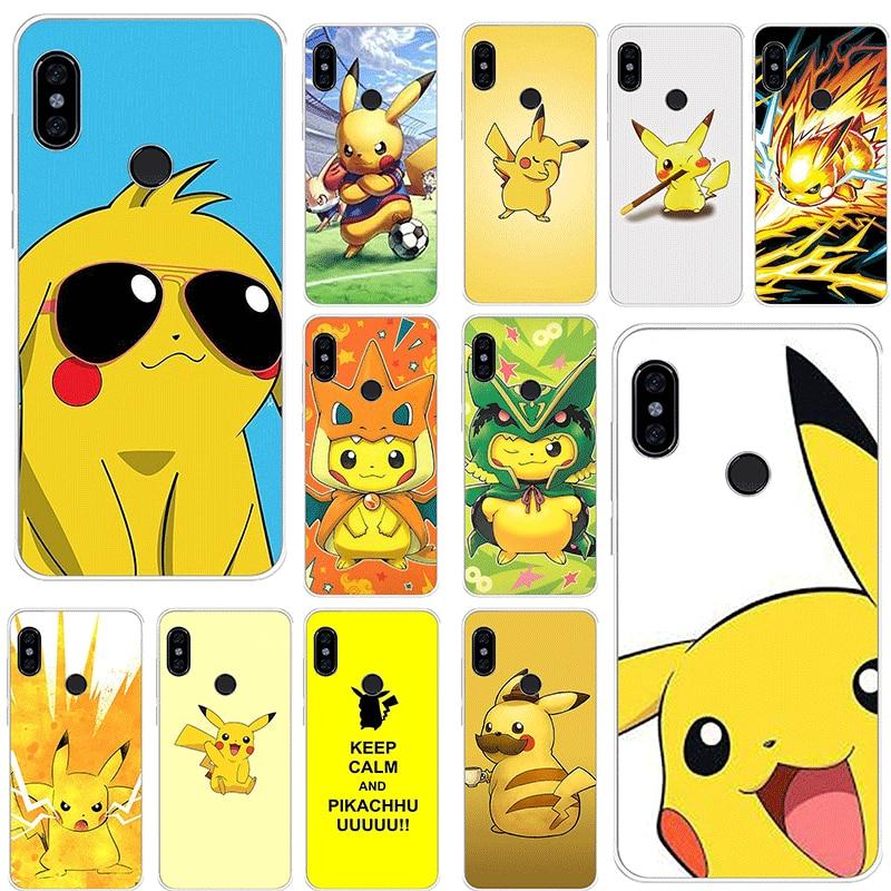 Genial funda de teléfono para Xiaomi Mi CC9 CC9E 9T mezclar 2S 6 8 9 SE A1 A2 5X 6X MAX 3 A3 Pro Lite Nota 10 cubierta genial pokemons pika patrón