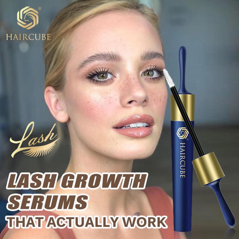 HAIRCUBE Eyelash Growth Enhancer Natural Eyelashes Longer Fuller Thicker Treatment Eye Lashes Serum Mascara Lengthening Longer