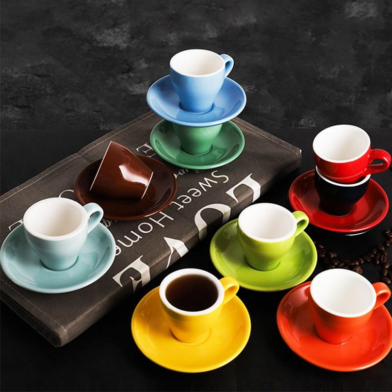 Copo de Café Cerâmico de Alta Pode Promoção! – 80ml Qualidade Conjunto Simples Europeu Cappuccino Mhv 1 70ml