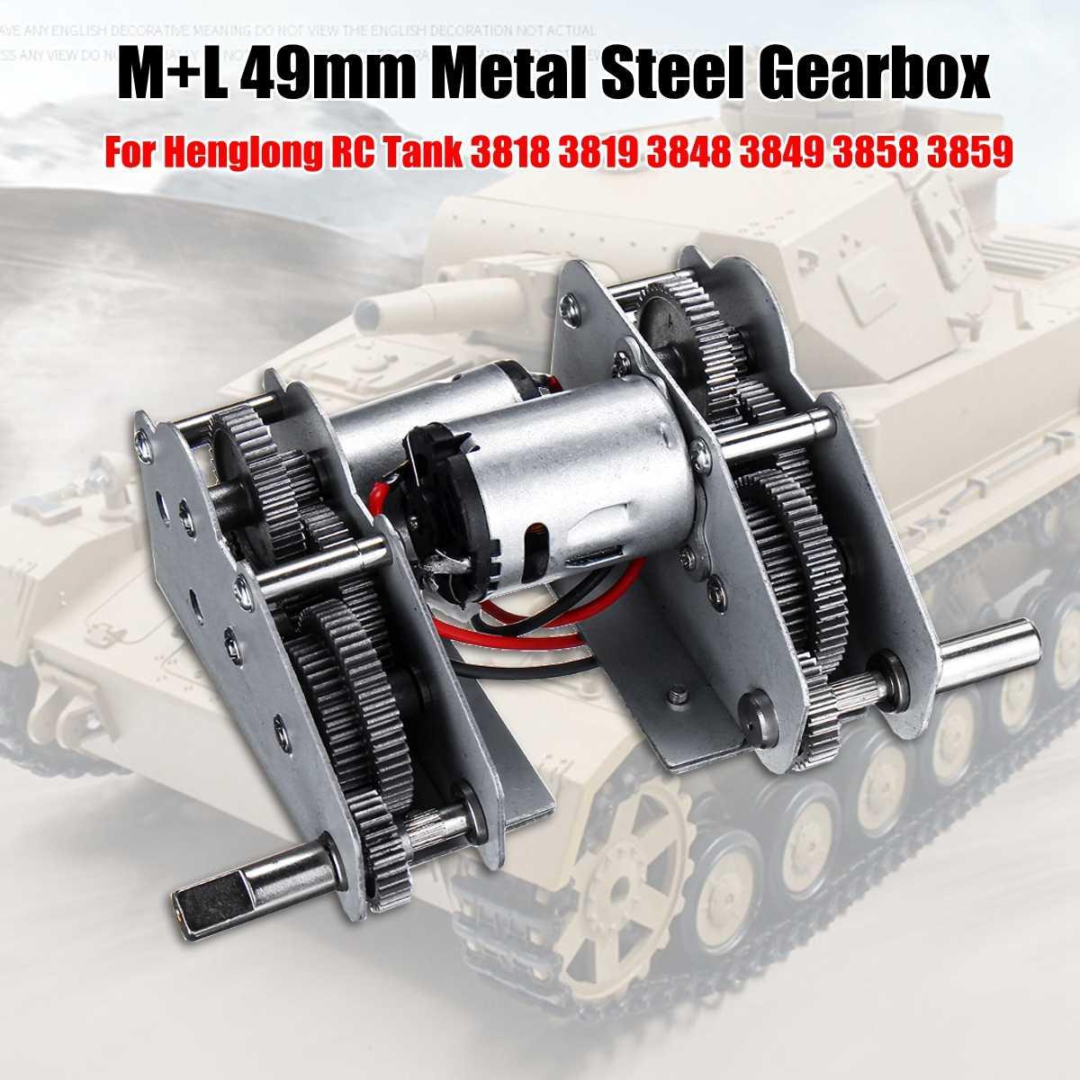 Nuevo diseño para Henglong 3818, 3819, 3848, 3849, 3858, 3859, 3868, 1/16 RC tanque 380/390 motores/acero juego de engranajes/acero con motor 380