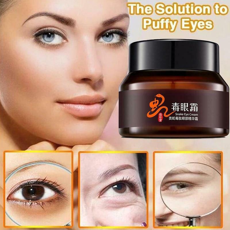 Crema hidratante para los ojos Gel antiarrugas eliminador de hinchazón ojeras cuidado de ojos crema de colágeno de seis péptidos TSLM1