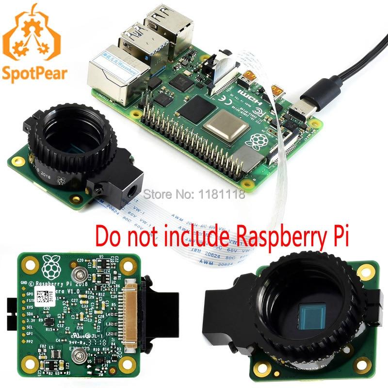 Raspberry Pi oficial Cámara IMX477 12.3MP de alta calidad apoya C / CS lentes mejor cámara v2
