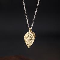 VLA 925 Silver Fashion Design Basil Leaf Necklace Women 2021 New Simple Temperament Leaf Necklace Jewelry Accessories