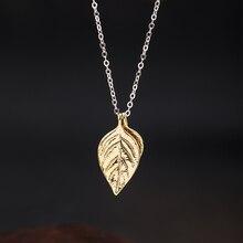 VLA 925 Silver Fashion Design Basil Leaf Necklace Women 2021 New Simple Temperament Leaf Necklace Je