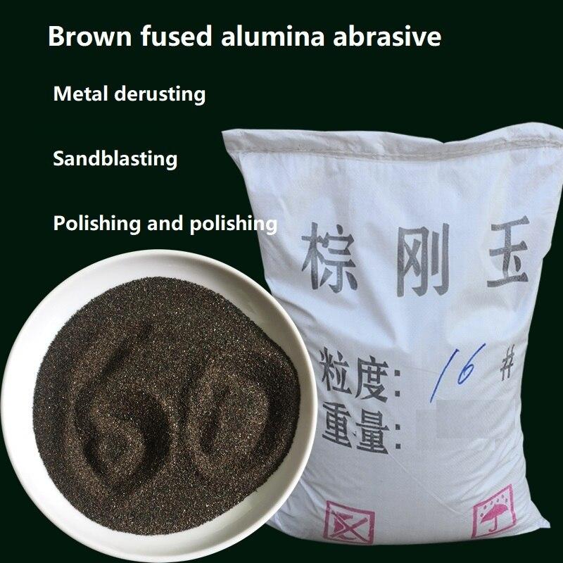 500g Braun korund abrasive sandstrahlen rost entfernung metall polieren schleifen pulver Braun Edelkorund