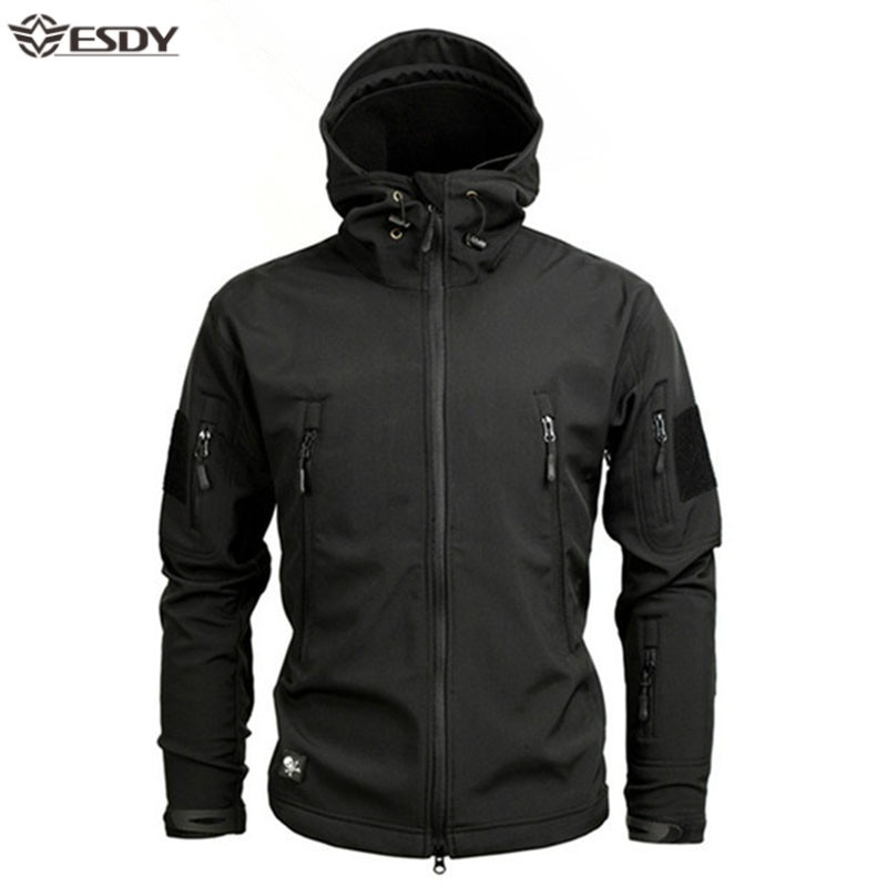 Shark Soft Shell Military Tactical Jacket Men Waterproof Warm Windbreaker US Army Clothing Winter Big Size Men Camouflage Jacket