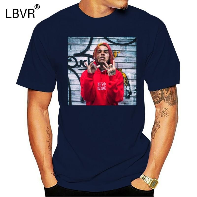 6Ix9Ine White T-Shirt S-3Xl Tekashi 69 Hiphop Lil Pump Lean Gummo Kooda Travis