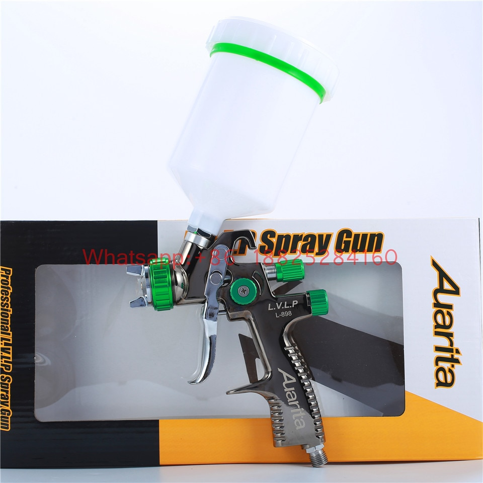 Auarita Spritzpistole L-898 LVLP Airbrush Malen Spray Pistolen mit 1,3mm düse 600cc tasse