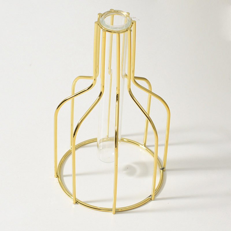 Jarrón nórdico de alta calidad para decoración de escritorio, miniflorero de vidrio...