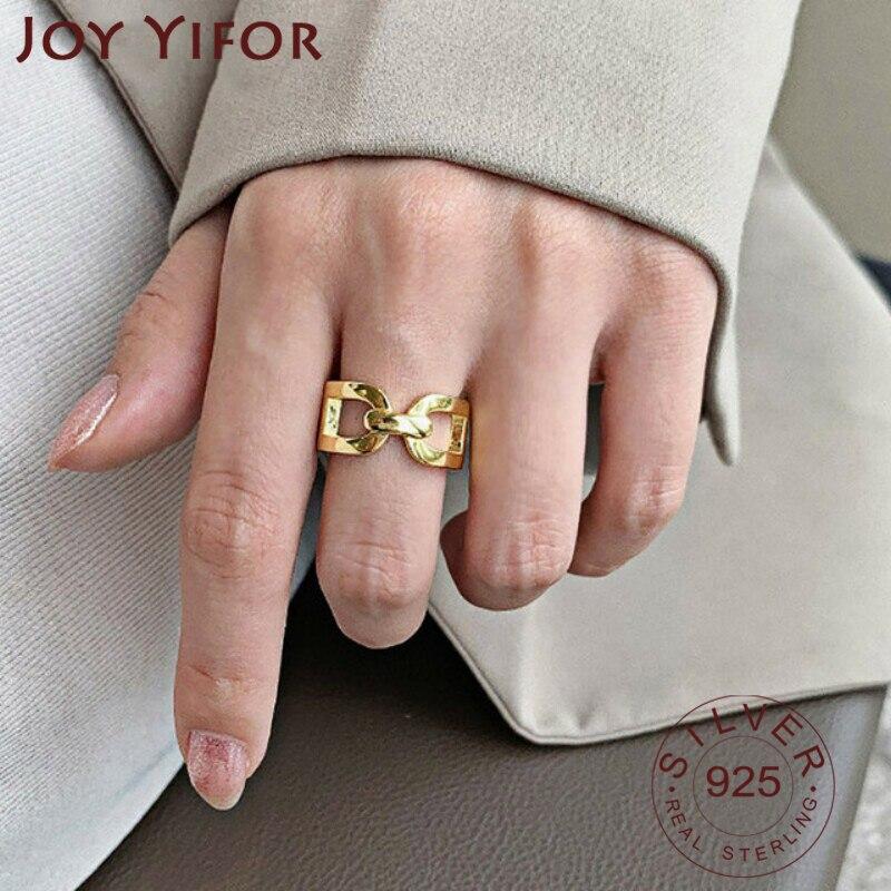 Модные-женские-Кольца-из-стерлингового-серебра-925-пробы-в-Корейском-стиле