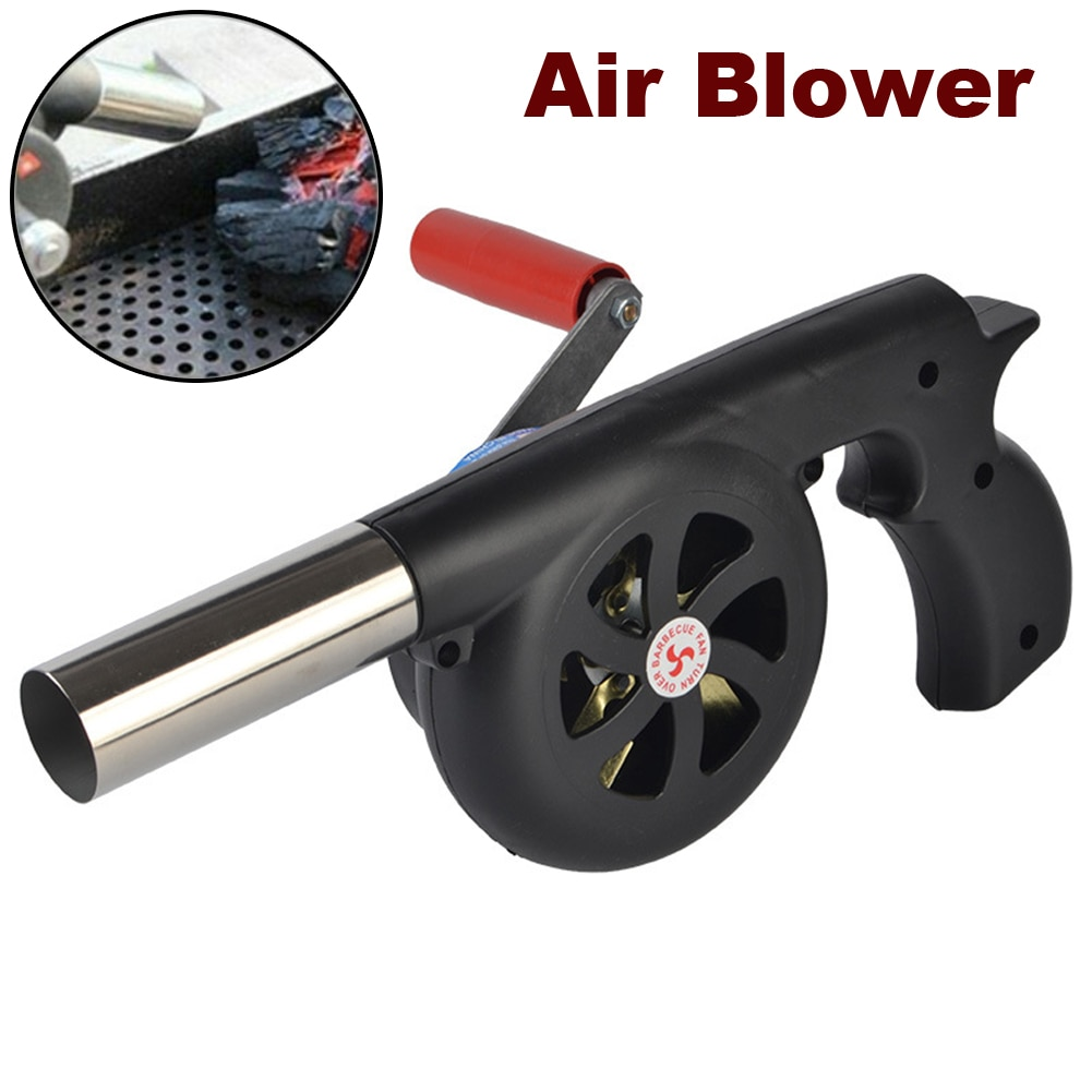 Ручной уличный вентилятор для барбекю, воздуходувка, портативный гриль для барбекю с ручным приводом, инструменты для подрезки огня, аксесс...