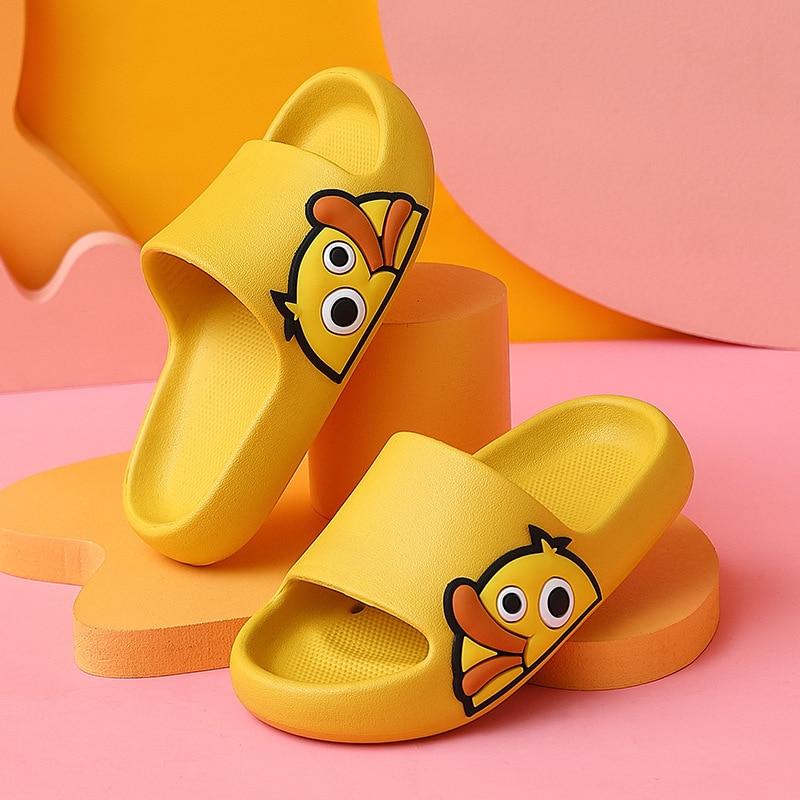 BPP Summer Beach Slides Women Slippers Sandals Flip Flops Cartoon Duck Platform Thick Soled Ladies Couples Bathroom Shoes New