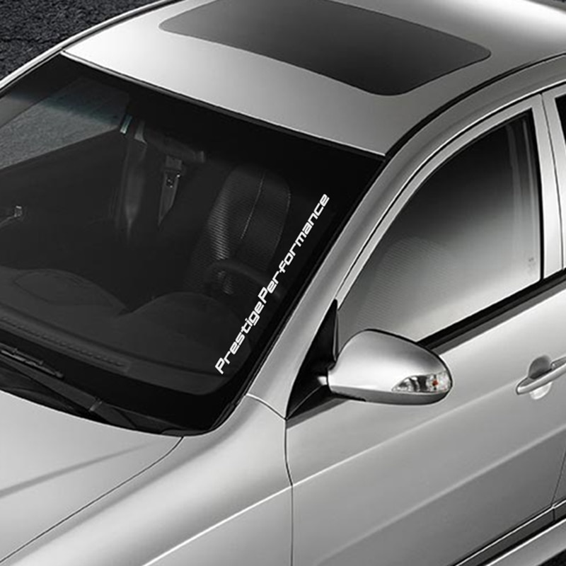 Pegatina de cristal para parabrisas de coche, calcomanías de película de vinilo para coche, pegatina de decoración para automóviles, accesorios de ajuste con estilo para deportes de competición