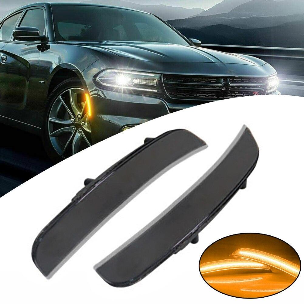 Автомобильные светодиодные боковые маркеры, 2 шт., указатели поворота для Dodge Charger 2015-2020 68214404AA 68214405AA