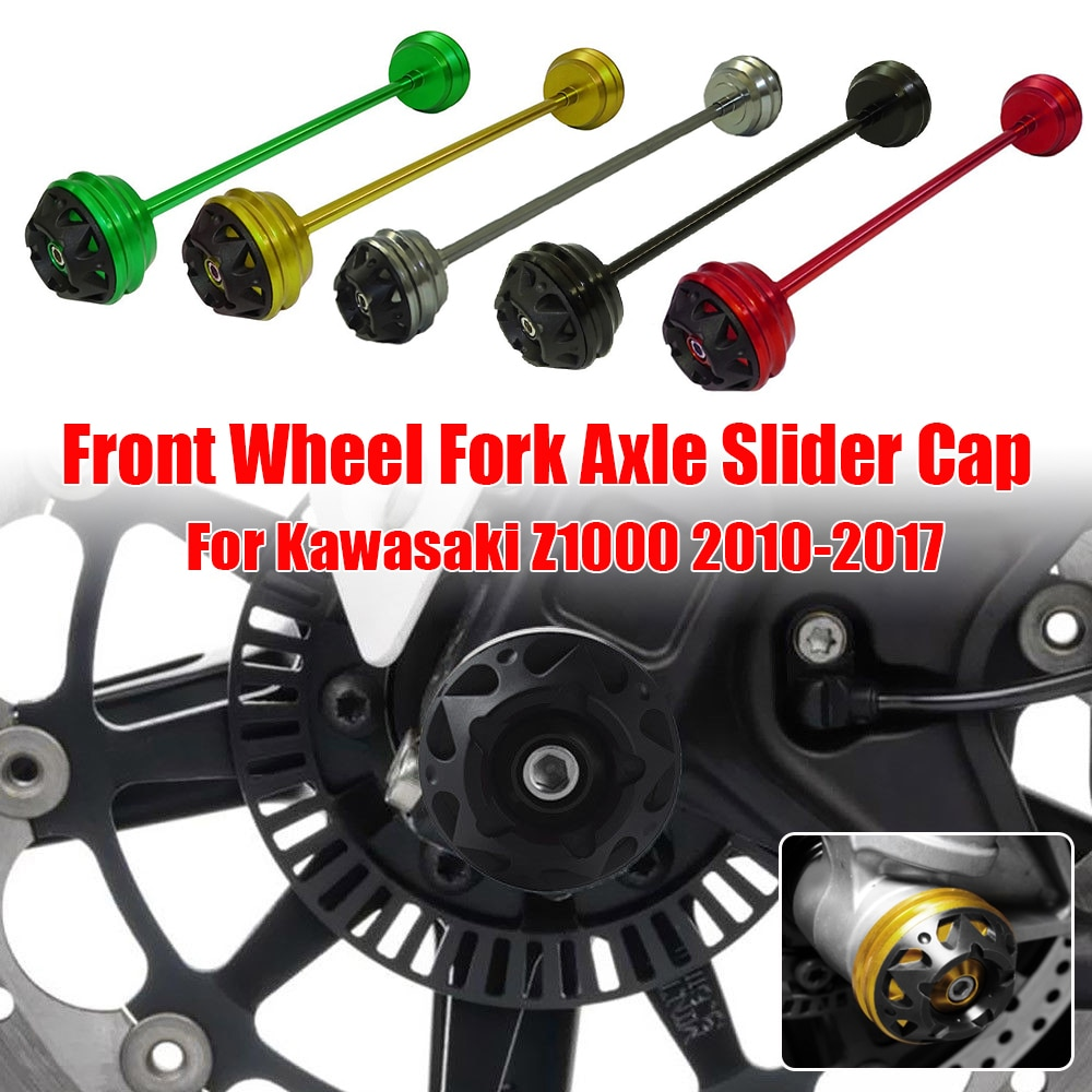 For Kawasaki Z1000 Z 1000 Motorcycle Front Wheel Fork Axle Slider Cap Crash Falling Protector 2010 2011 2012 2013 2014 2015-2017