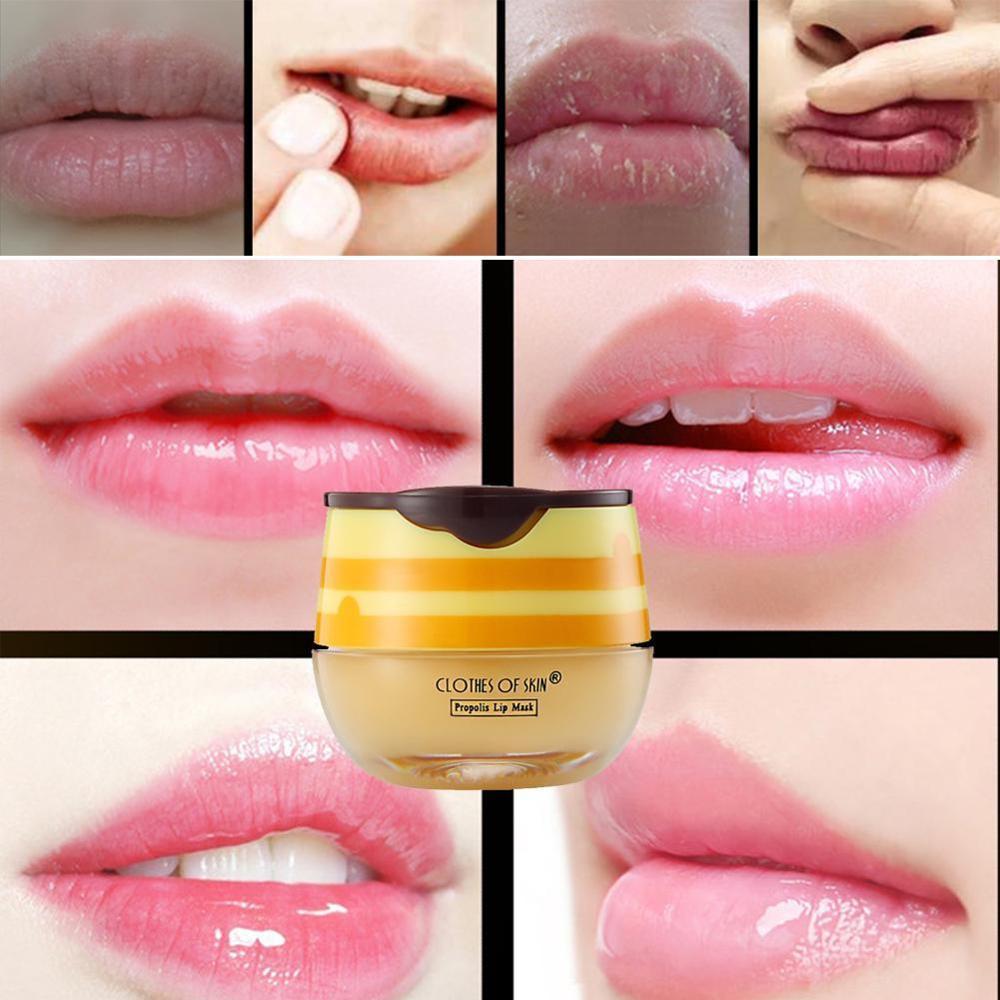 Propolis Moisturizing Lip Mask Sleep Lip Balm Nourishing Care Brush Lip With Lip Anti-cracking Anti-wrinkle Mask Unisex A4A6