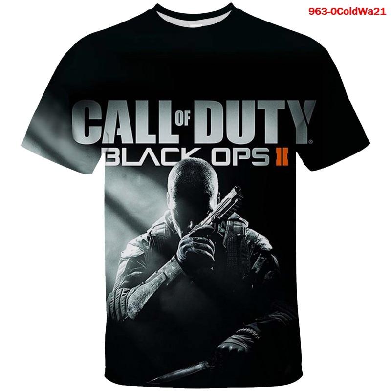 Blusa para niños Call of Duty Black Ops, camiseta de manga corta...