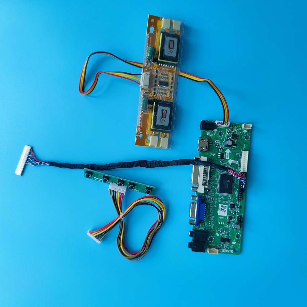 عدة لوحة التحكم M215HW01 V9/V1/V0 لوحة LVDS 4 مصابيح 21.5