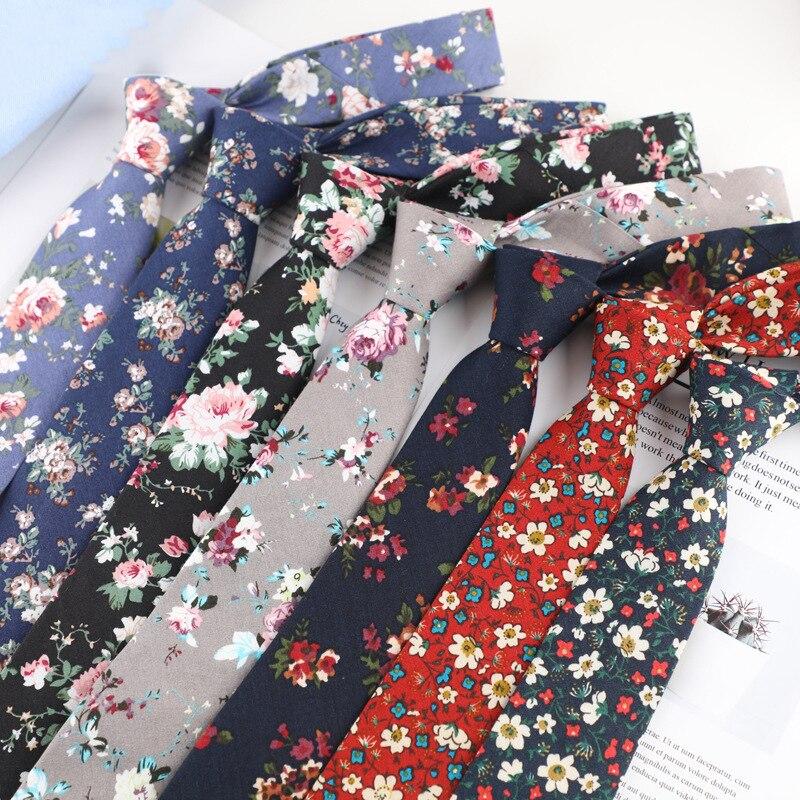 Sitonjwly 6 см хлопковые галстуки с цветочным принтом для мужчин шейные галстуки женские жаккардовые галстуки для свадебной вечеринки строгий г...