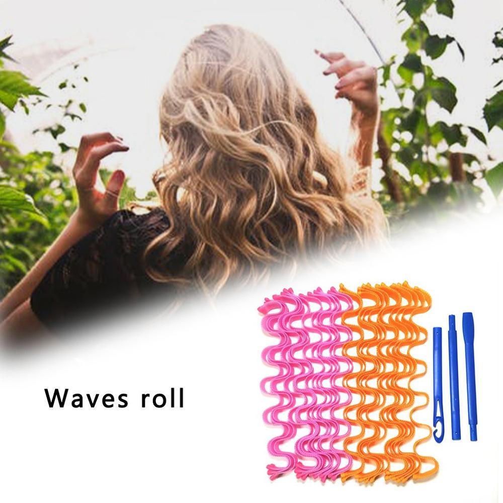 Hot 24 Large Curls Do Not Hurt Hair Curling Iron Artifact Magic Volume Diy Spiral Big Wave Curling T