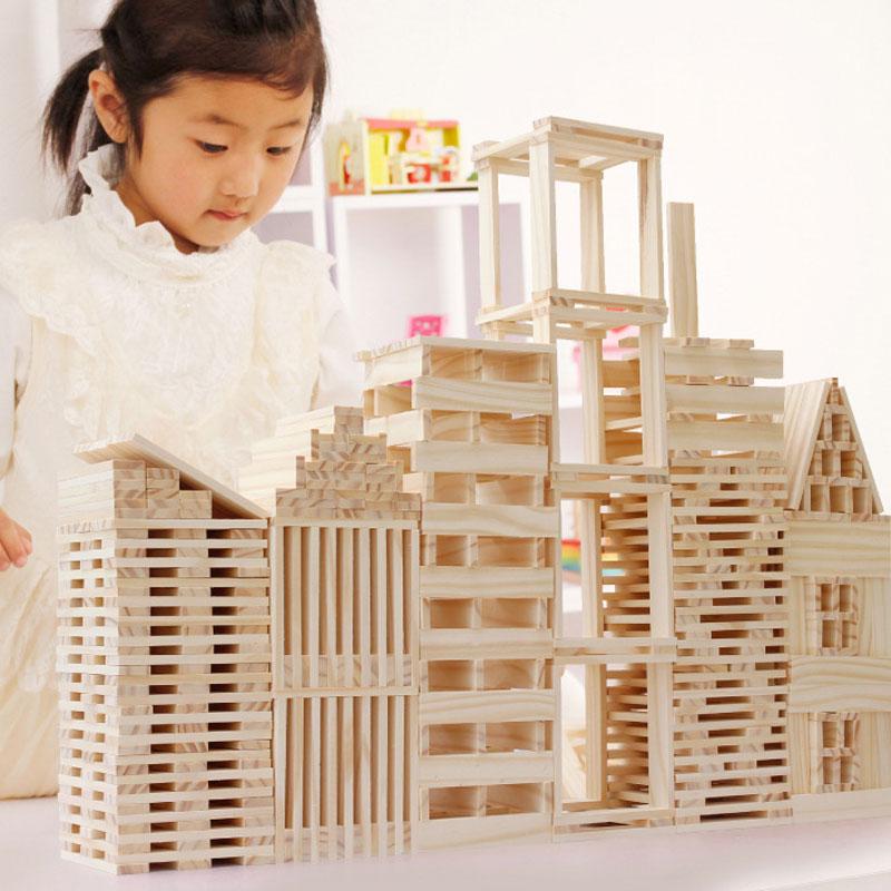Деревянные блоки игрушки для детей сборные DIY Строительные головоломки строительные блоки Монтессори Ранние развивающие игрушки детские п...