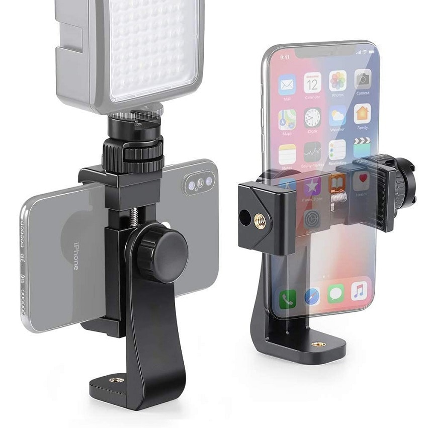 Adaptador de montaje para trípode para teléfono móvil soporte Vertical 360 trípode para smartphone