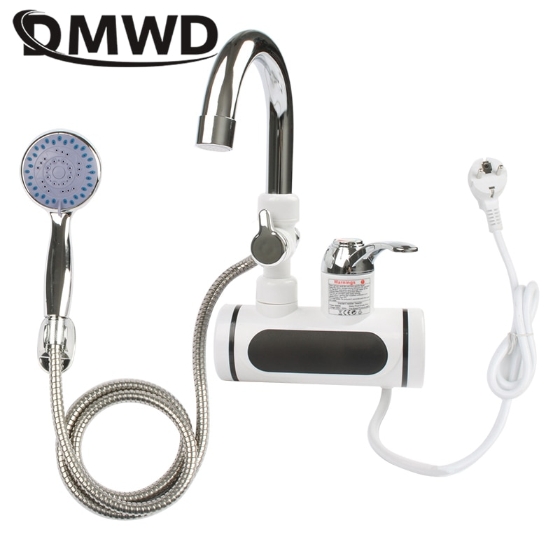 DMWD Electric Instant Hot Water Faucet Water heater Fast heating with LED Temperature Display Tankle