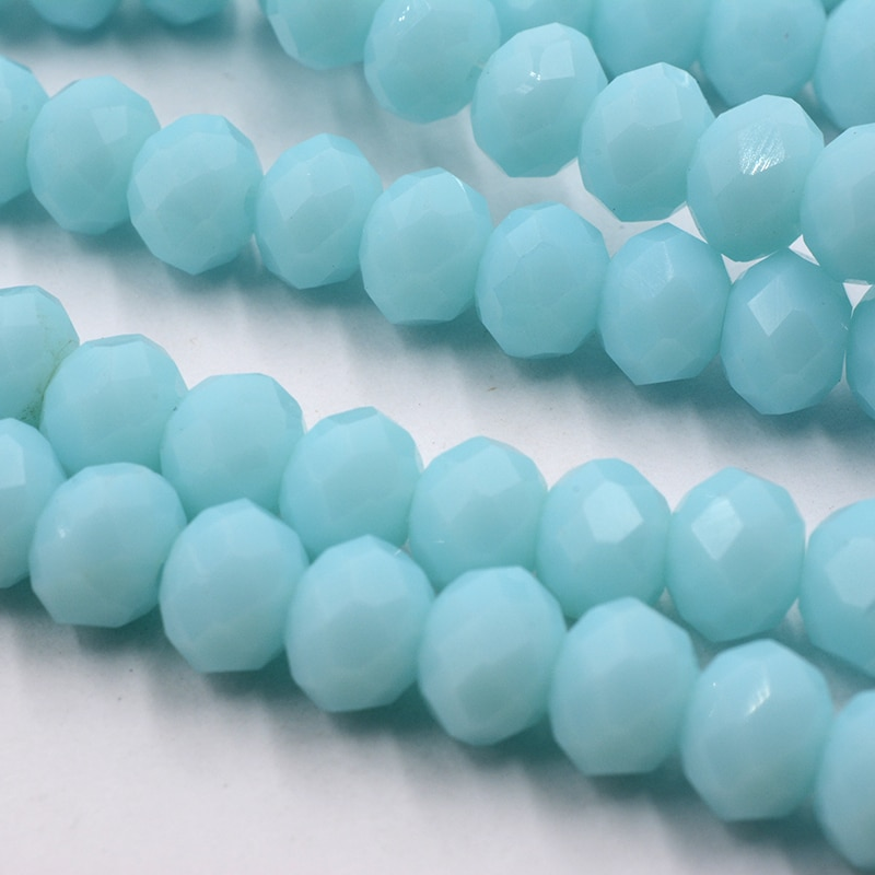 Mar azul cor 4/6/8mm contas de cristal multicolorido sapcer contas de vidro para jóias anel de mão colar que faz diy atacado