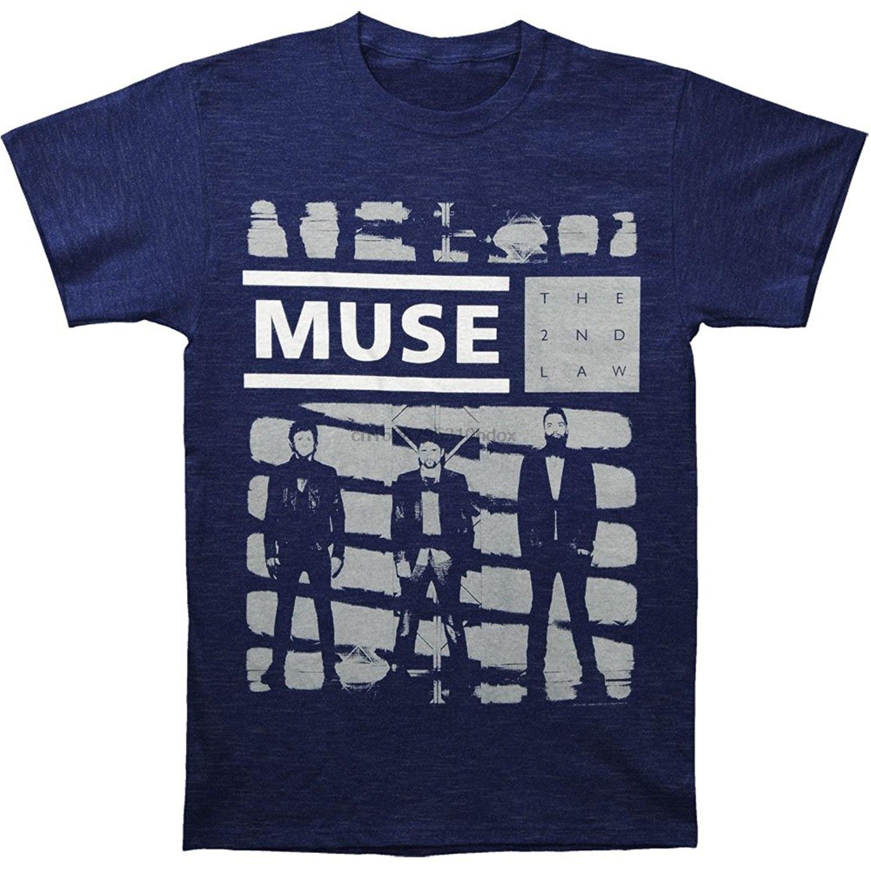 Marca Camiseta Hombre moda cuello redondo Muse Men One Shade Of Grey camiseta PurpleSummer camiseta