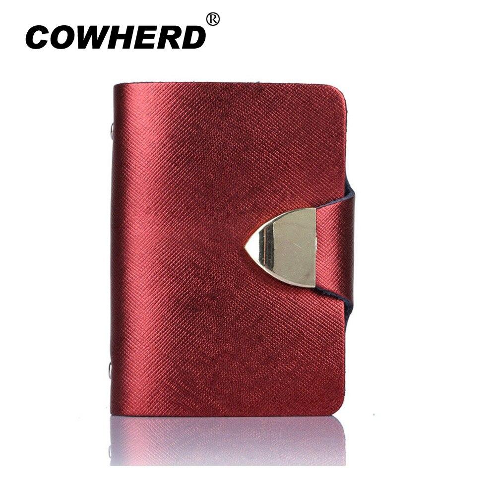 Nuevo diseño Unisex de cuero de vaca genuino, múltiples ranuras para tarjetas, alta calidad, portatarjetas de negocios, CH001, 2020