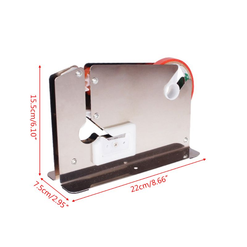 2021 New Stainless Steel Supermarket Bag Sealing Machine Food Packaging Fruit Shop Packer Portable Tape Cutter Dispenser