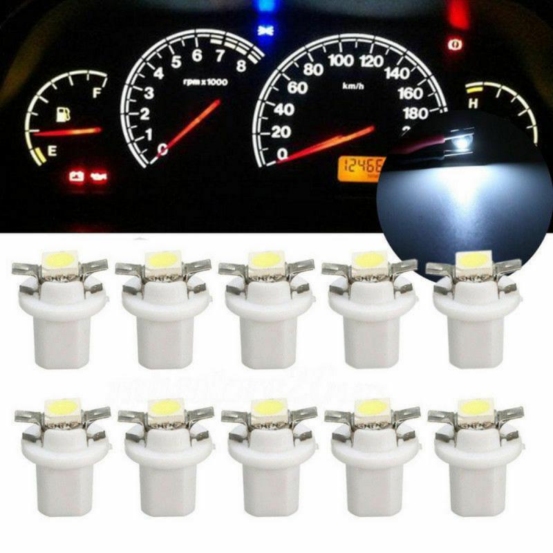 Instrumento medidor de cerámica para salpicadero, lámpara de luz de cuña lateral para coche de cerámica, bombilla roja/Verde/amarillo/azul/blanco 10xT5 B8.5D 5050 1SMD
