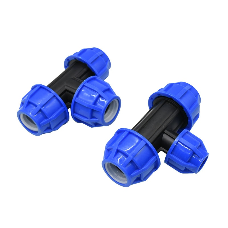 "Dn15 dn20 dn25 ppr pvc pe tubo reduzindo t 1/2 ""3/4"" 1 ""t conector t água divisor tubulação 5 pces"