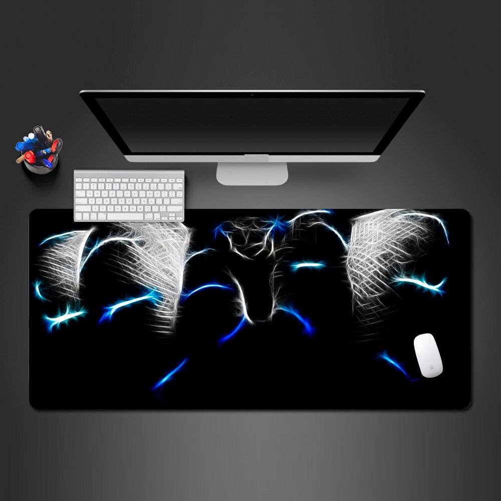 Alfombrilla de ratón de serpiente en azul degradado, accesorios de juego de alta calidad, alfombrillas de escritorio profesionales para teclado y ratón de ordenador, regalos de navidad