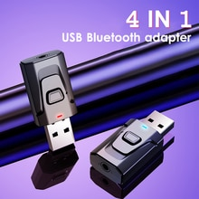 4 In 1 Bluetooth 5.0 Receiver wireless USB Adapter 3.5mm Audio Receiver/Transmitter For TV PC Car AU