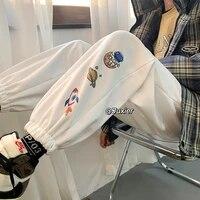 harem pants female casual loose cartoon print korean style thick sweatpants autumn winter fashion new trousers cargo pants women