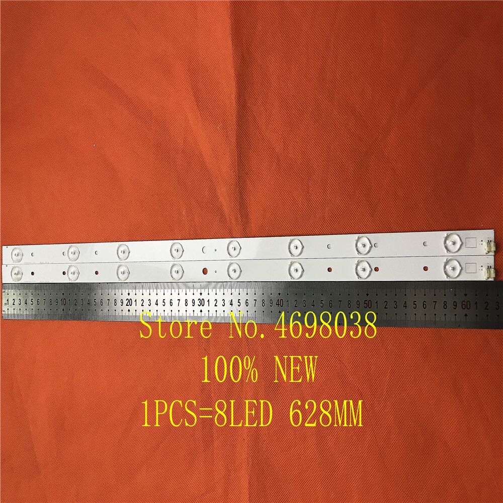 9 unid/lote 8LED 627mm LED de retroiluminación para TOSHIBA 32L2333DG SVT320AE9_REV1.0_121012 LSC320HN03-T01 100% nuevo
