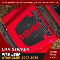 car stickers for jeep wrangler 2007 2018 2019 hood scoop 1941 word brothers graphic vinyl modified decoration car decals custom