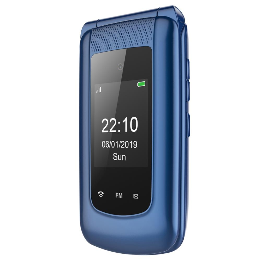 Ushining Uleway 2G Mobile Flip Phone Feature Phone Dual Screen Dual SIM Unlocked Senior Phones Big Button Easy to Use Phone