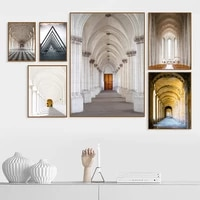 triptych classic european palace famous scenery architect art print poster architecture wall pictures canvas painting home decor