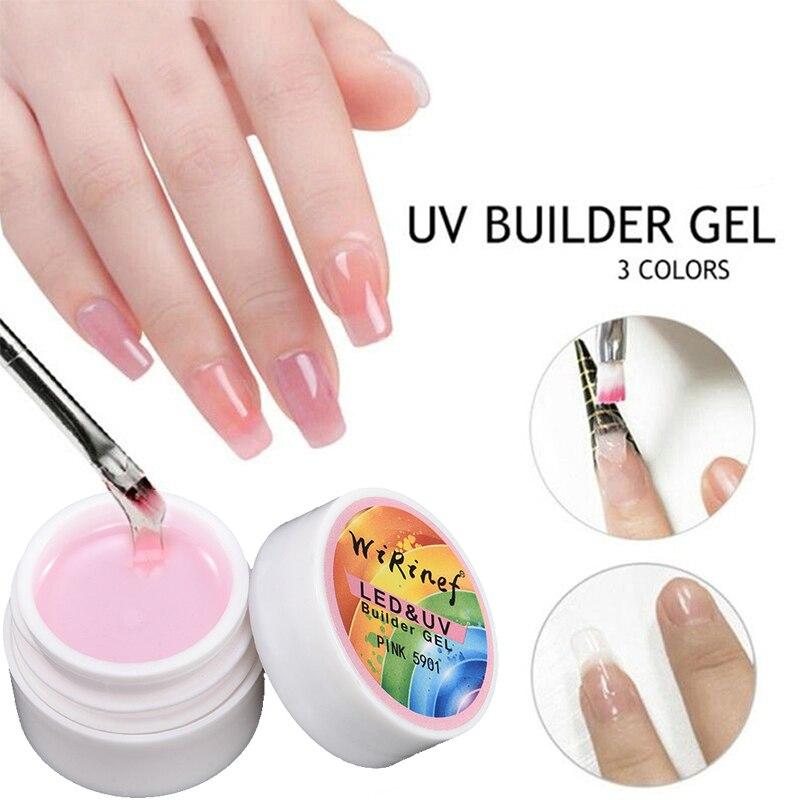 Gel constructor de uñas Led UV de secado rápido 8ml escultura de extensión Gel de gelatina dura manicura UV constructor Gel de uñas polaco extensión de Arte de uñas
